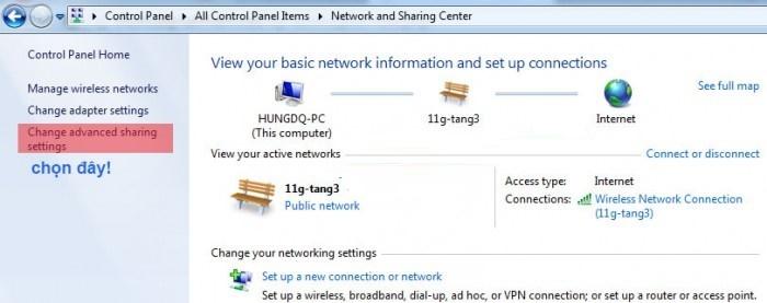 Hướng dẫn chia sẻ dữ liệu qua mạng Lan và Wifi