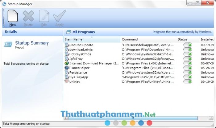 quản lý chương trình khởi động cùng hệ thống