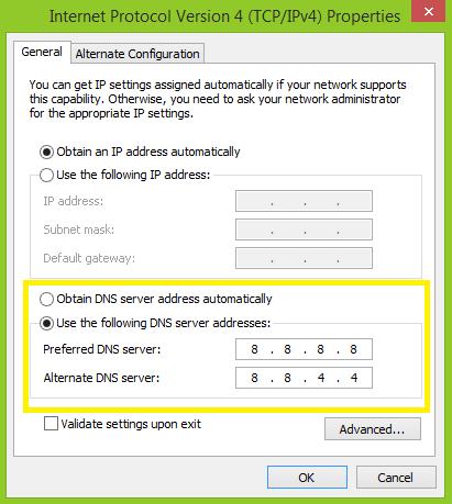 Đổi DNS Bước 5