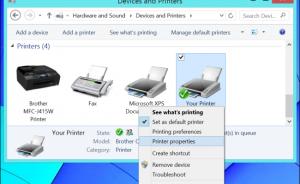 chia sẻ máy in trong mạng lan