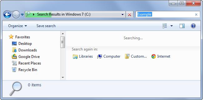 tìm kiếm file đặt không đúng chỗ trong Windows