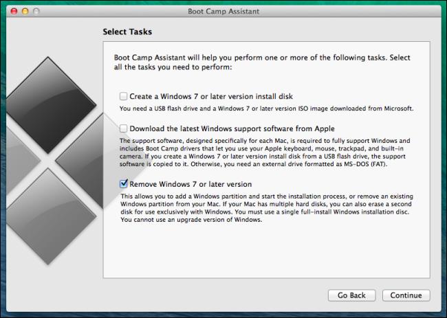 gỡ bỏ cài đặt hoặc loại bỏ windows từ mac