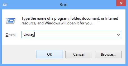 kiểm tra cấu hình máy tính dùng lệnh dxdiag trong hộp thoại RUN