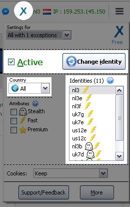 tiện ích fake ip AnonymoX cho trình duyệt