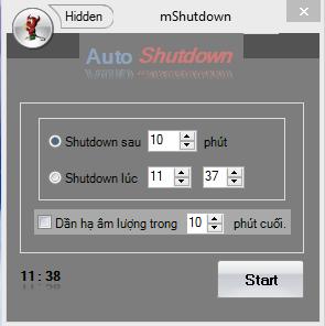 khi bạn có một máy tính với mShutdown