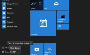 không shutdows được windows 10 trong Laptop