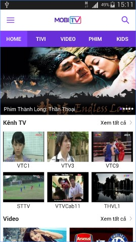 xem tivi online MobiTV cho android
