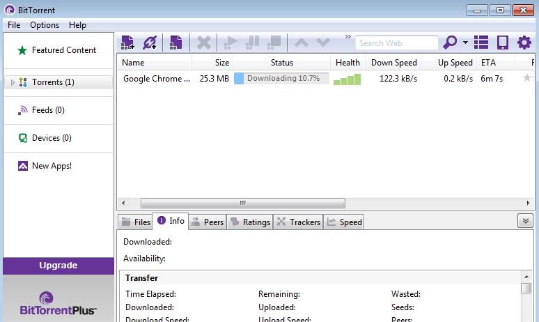 Giao diện BitTorrent Pro 7.9.7 phiên bản mới nhất