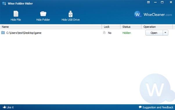 Giao diện Wise Folder Hider Pro 3.32 Phần mềm ẩn File và Folder miễn phí
