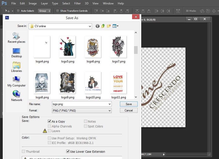 Hướng dẫn cách lưu hình ảnh trong photoshop dưới dạng đuôi PNG
