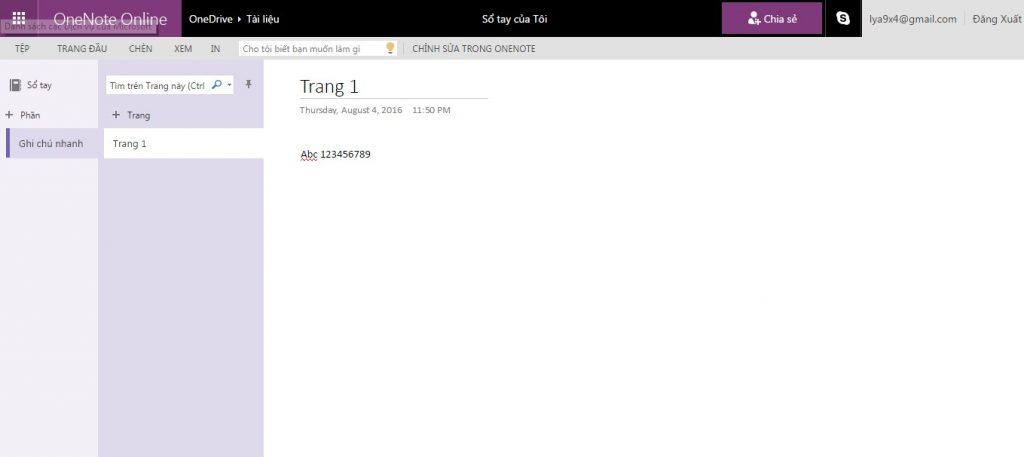 Tải ứng dụng OneNote Online - ứng dụng văn phòng trực tuyến