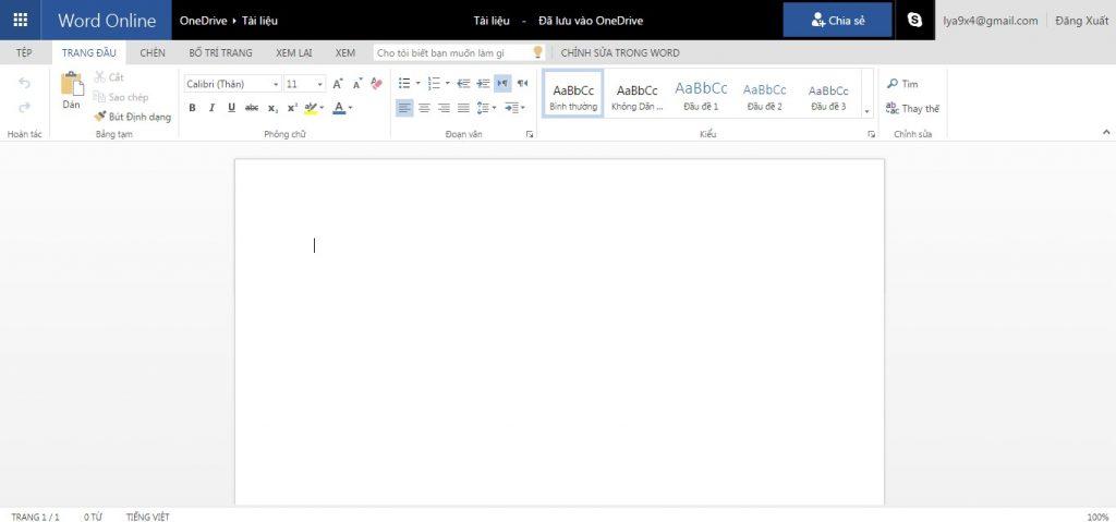 Tải ứng dụng Word Online - ứng dụng văn phòng trực tuyến