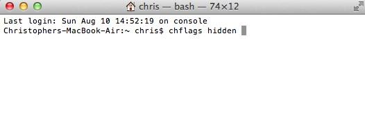 Cách ẩn file và folder trên Mac