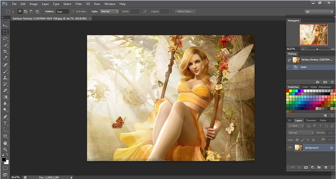 Cách mở file hinh ảnh trong Photoshop CS6