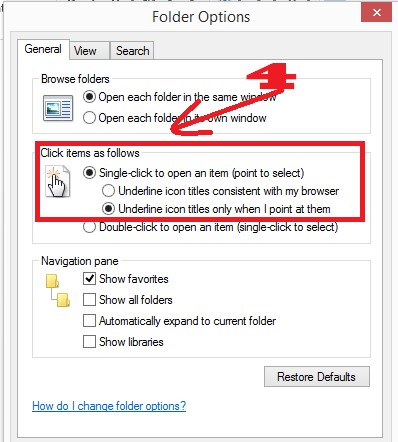Cách Mở Folder thư mục nhanh với chỉ 1 Click chuột trong Windows 7,8,8.1,10