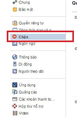 Làm thế nào để chặn tin nhắn Facebook từ người khác