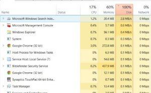 Cách khắc phục lỗi Disk Usage 100% trên Windows 10