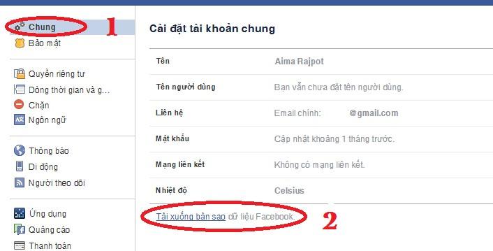 Lấy lại tin nhắn Facebook đã bị xóa