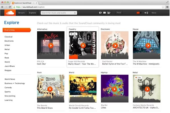 Tải phần mềm ghi âm, nghe và chia sẻ âm nhạc SoundCloud