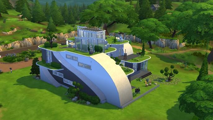 Phong cảnh đẹp hoàn mĩ trong game The Sims 4