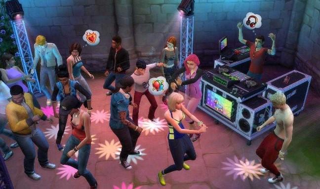 Quán ba trong game The Sims 4