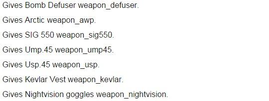 Mã lệnh mua súng nhanh game-counter strike