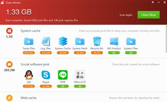Tai Clean Master 12.1 phần mềm cho máy tính