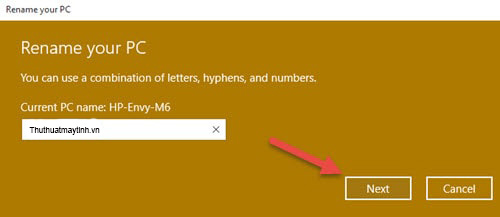 doi ten may tinh Windows 10