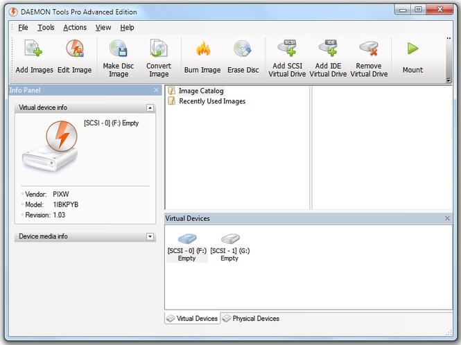 Phần mềm tạo ổ đĩa ảo trong Windows Daemon Tools Pro
