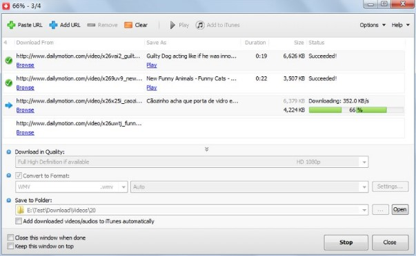 Giao dien MP4 Downloader 3