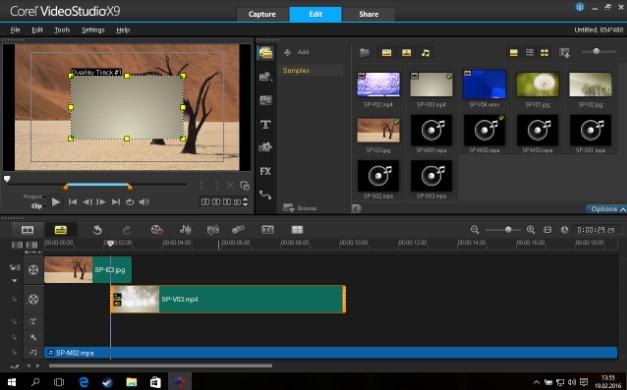 Giao diện Corel VideoStudio Pro X9