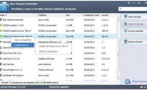 Giao diện Wise Program Uninstaller 1.98