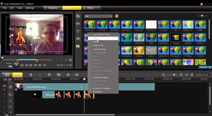 Hiệu ứng Corel VideoStudio Pro X9