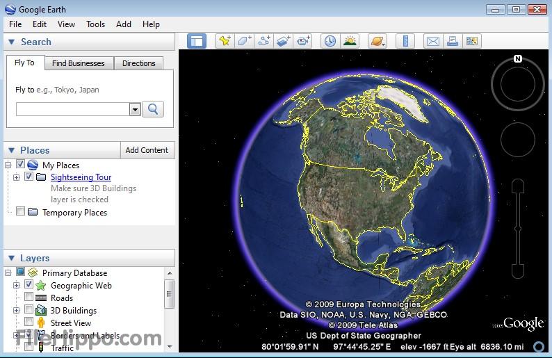 Tai Google Earth 7.1.8.3036