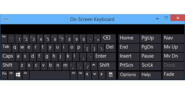 Cách bật bàn phím ảo (On-Screen Keyboard) trong Windows 10