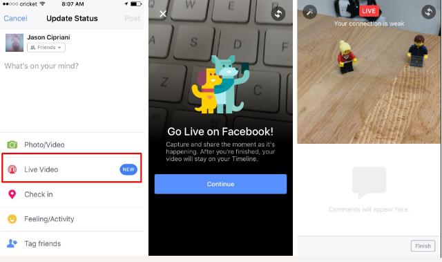 Cách live stream video Facebook trên điện thoại