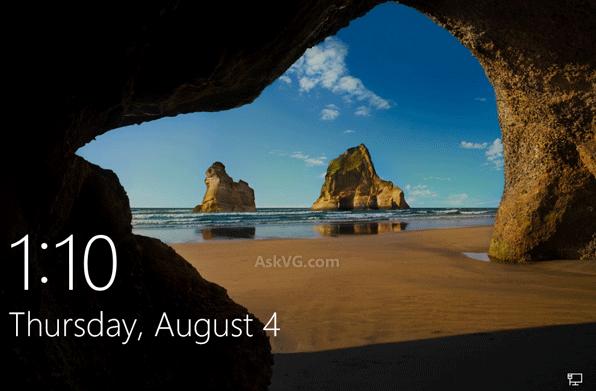 Sửa lỗi Lock Screen Hiển thị nền đen trong Windows 10