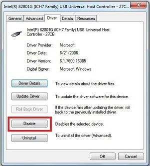 Vô hiệu hóa cổng USB