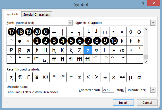 Bang bieu tuong ky tu dac biet trong Excel