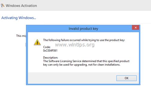 Khắc phục lỗi 0xC004F061 trên Windows 10, 8, 7 & Vista