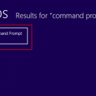 Bật Command Prompt trên máy tính Windows 8