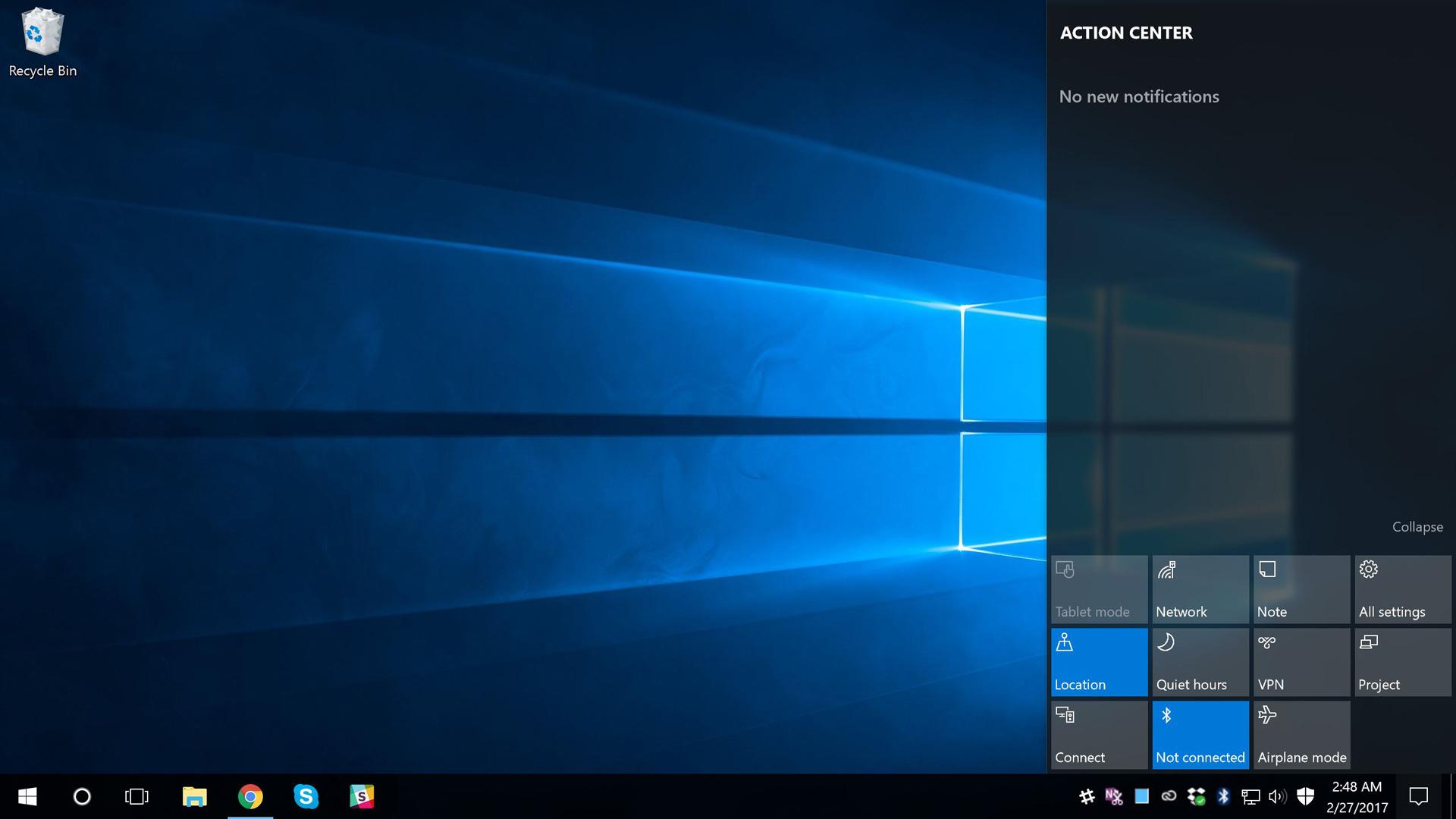 Cách ẩn các Quick Actions trong Action Center Windows 10