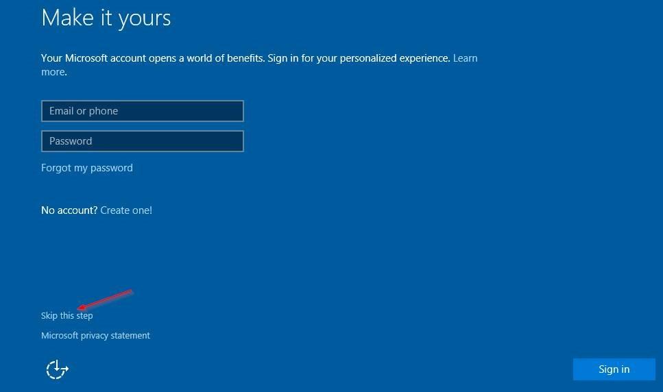 Cài đặt Windows 10 mà không có tài khoản Microsoft