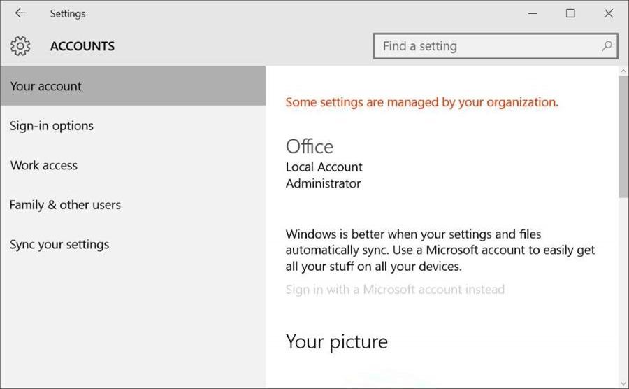 Cách Vô hiệu hoá / Chặn Tài khoản Microsoft Trong Windows 10