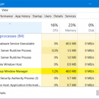 Desktop Window Manager dwm.exe tiêu tốn CPU hoặc bộ nhớ cao
