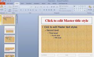 Hướng dẫn Sử dụng Slide Master trong PowerPoint 2010, 2007