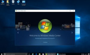 Kích hoạt Media Center trong Windows 10