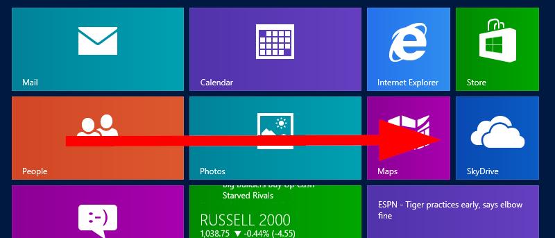 Cách Ngắt kết nối SkyDrive trong Windows 8