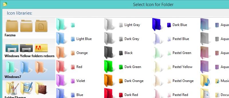 Folderico 5.1 - Thay đổi các biểu tượng màu sắc thư mục