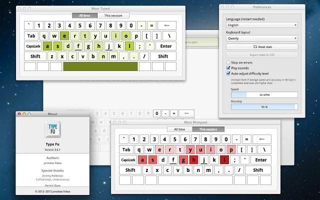 Type Fu 3.6 - Ứng dụng dạy cách đánh máy tính nhanh